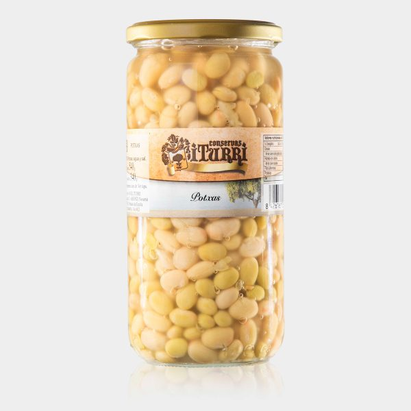 pochas, potxas, alubias pochas, alubias, tarro, conservas iturri, conservas, arroniz, iturri