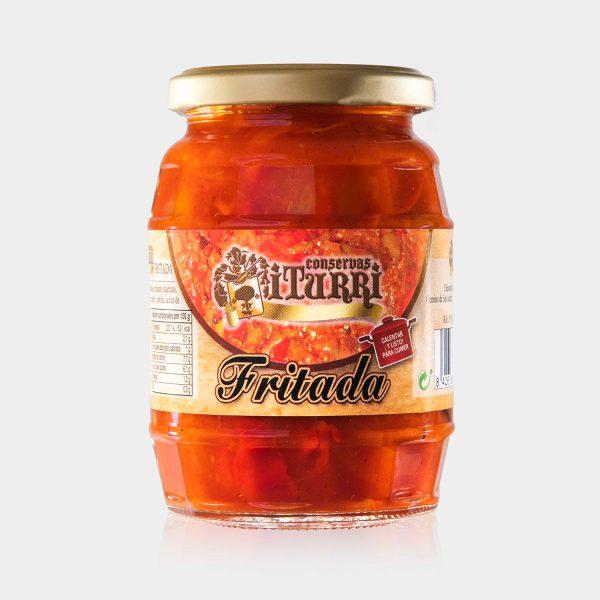 fritada, fritada casera, frasco, tarro, tomate, casera, conservas iturri, conservas, arroniz, iturri