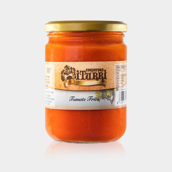 tomate frito, tomate, frito, natural, frasco, tarro, conservas iturri, conservas, arroniz, iturri