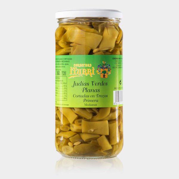 Judías verdes planas, Judías verdes planas en trozos, judías verdes planas, judías planas, judías verdes, judías, natural, tarro, conservas iturri, conservas, arroniz, iturri