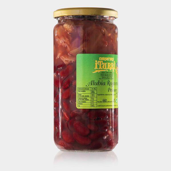 alubia, alubia roja con berza, alubia roja, berza, primera, natural, tarro, conservas iturri, conservas, arroniz, iturri, verduras