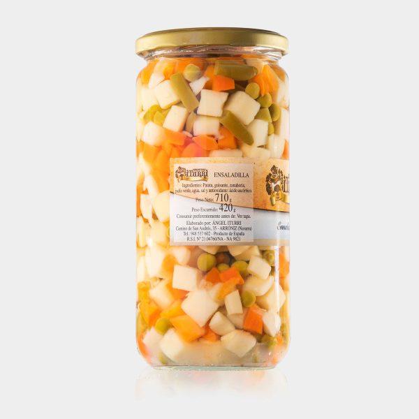 ensaladilla, natural, ensaladilla natural, verduras, tarro, conservas iturri, conservas, arroniz, iturri