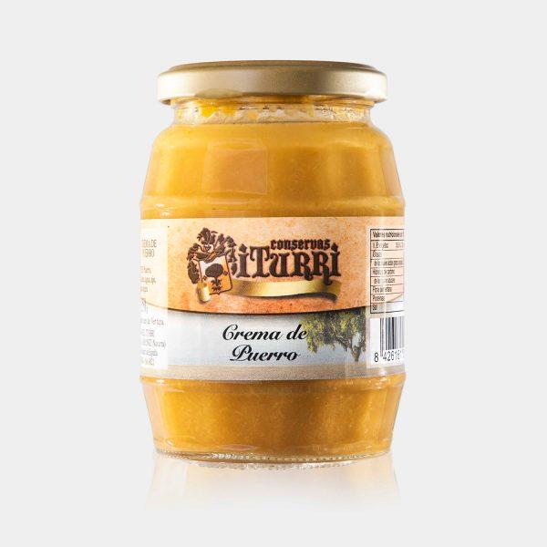 crema de puerro, crema, puerro, natural, verdura, tarro, conservas iturri, conservas, arroniz, iturri